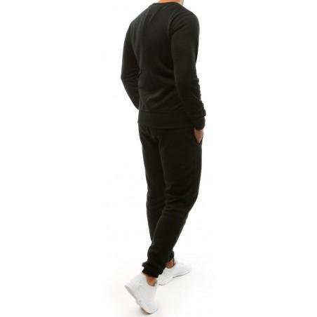 Jednofarebná pánska tepláková súprava (ax0039) - čierna, veľ. XL