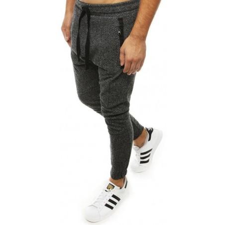 Tmavosivé pánske joggery UX2184